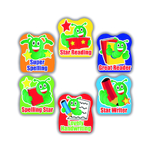 Bookworm Literacy Reward Stickers 200pk  medium