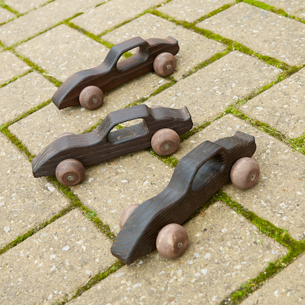 Outdoor Wooden Racing Cars 10pk  large