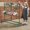 Metal Wellie Rack Green Double  small