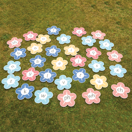 Playground Pictures \- Flower Alphabet and Digraphs  large