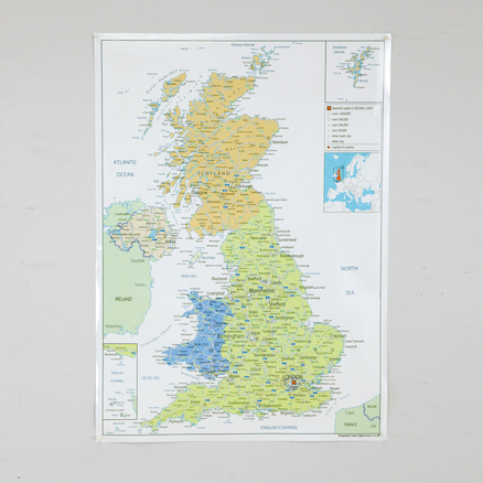 UK Political Map A1  large