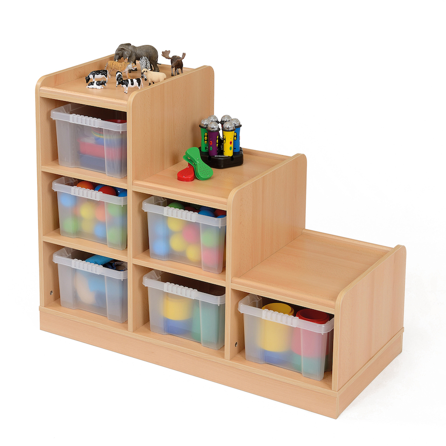 Perfect ... Wooden Tiered Tray Storage Unit Small ...