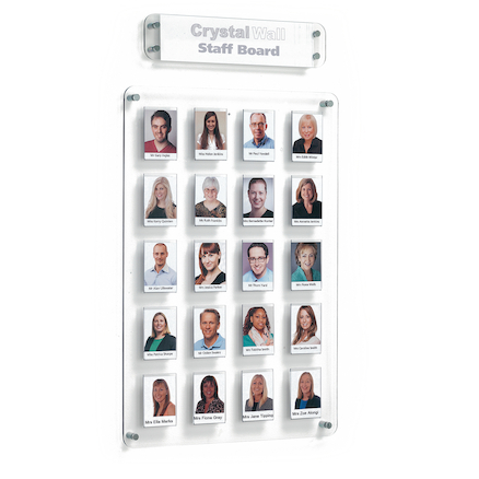 Crystal Wall Staff Members Boards  large