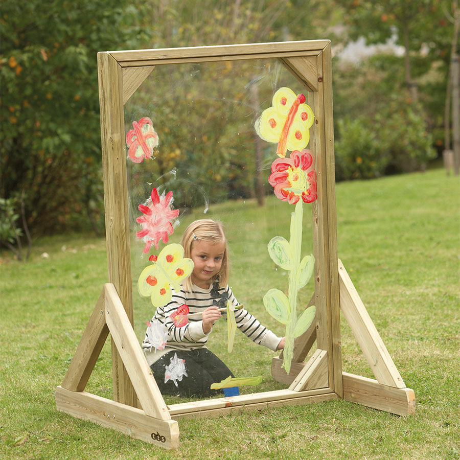 Buy Outdoor Acrylic Painting Window In Wooden Frame Tts
