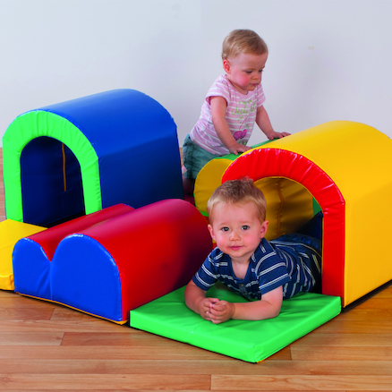 Soft Play Toddler Tunnels Set 9pcs  large