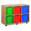 Mobile Tray Storage Unit With 6 Jumbo Trays 3x2  small