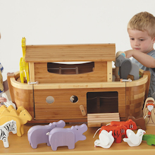 Small World Noah's Ark Bamboo Playset  medium