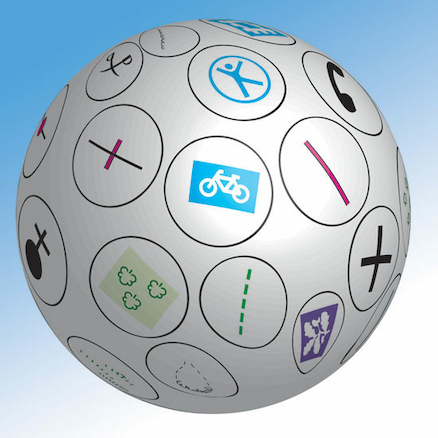 Map Symbols Talk Ball 40cm  large