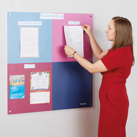 Pin Panelz Multicolour Noticeboards 120 x 120cm  large