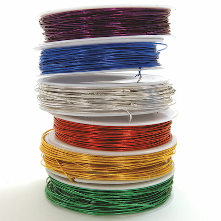 Assorted Coloured Craft Wire 12m 6pk  large