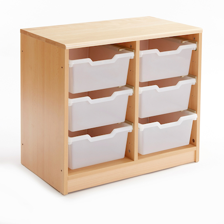 Room Scenes Tray Storage Units with Clear Trays  large