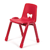 Valencia Classroom Chair 380mm Red  small