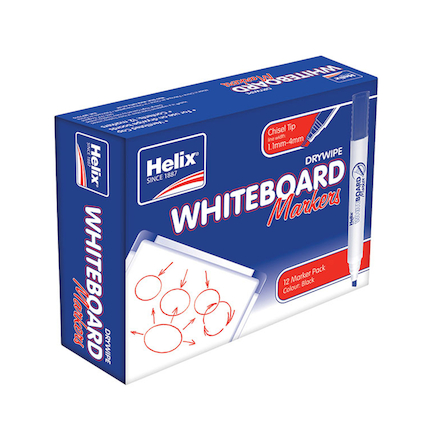 Helix Whiteboard Markers 12pk  large