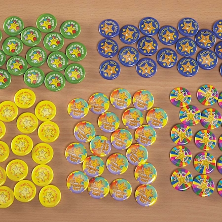PSHE Reward Button Badges 100pk  large