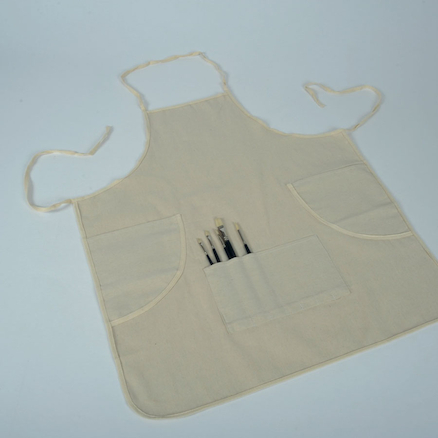 Natural Canvas 3 Pocket Art Apron  large