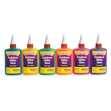 Colourful Glitter Glue 118ml 6pk  medium