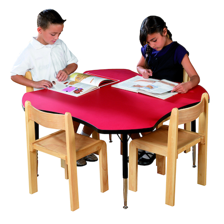 Height Adjustable Clover Classroom Table  large