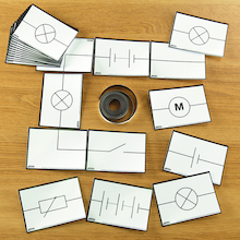 Magnetic Electrical Symbols Cards  medium