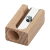 Wooden Pencil Sharpener Single Hole pk 20  small