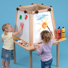 Four Sided Indoor Wooden Easel  medium