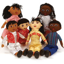 Soft Body Fabric Multicultural Diversity Dolls  medium