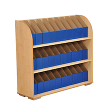 Bookcase with 30 A4 Library Boxes  medium
