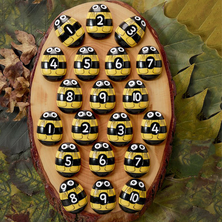 Honey Bee Number Stones  large