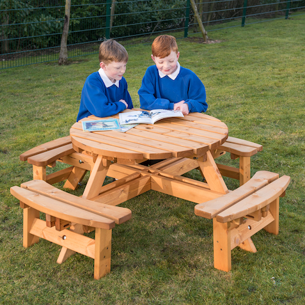 Round Junior Height Picnic Bench  large