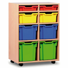 Mobile Tray Storage Unit With 8 Mixed Size Trays  medium
