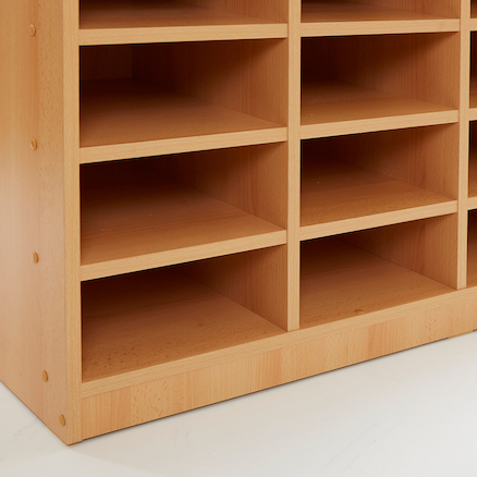 Open Storage Unit with 24 Small Compartments  large