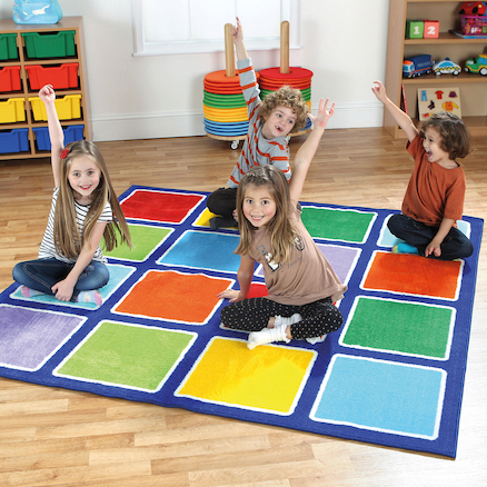 Rainbow Placement Floor Mats  large