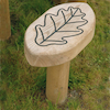 Engraved Outdoor Leaf Stools  small