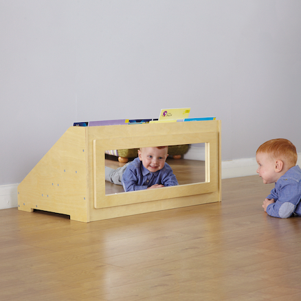 Toddler Book Display Unit with Mirror  large