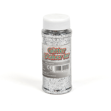 Glitter Shakers 100g Silver  large