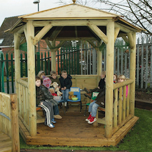 Outdoor Wooden Gazebo  medium