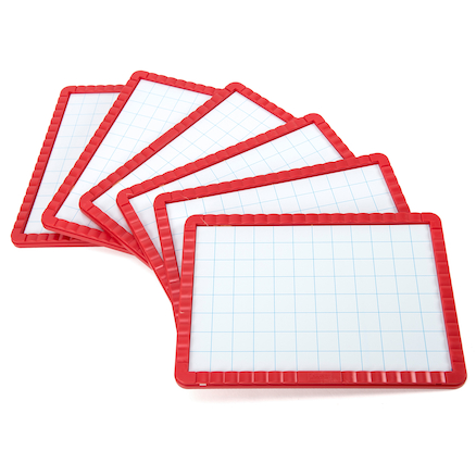 Dry Wipe Magnetic Boards 6pk  large