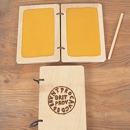 Wax Tablets and Styli With Army Stamp 2pk  large