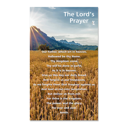 The Lords Prayer Playground Sign H85 x W65cm  large