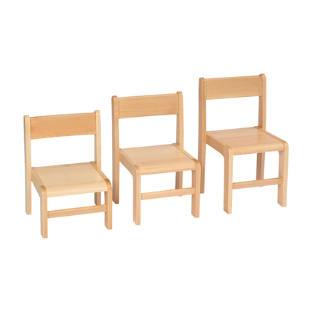 Classic Beech Stackable Chairs 4pk  large