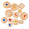 Wooden Jewel Pebbles  small