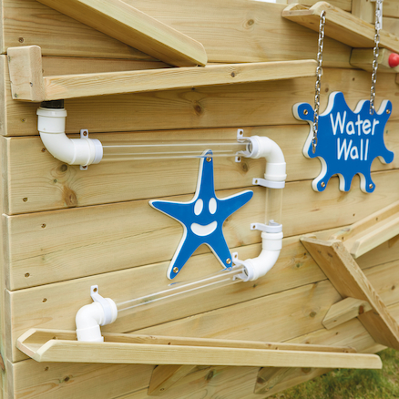Outdoor Wooden Water Wall  large