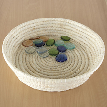 Smooth Soft Woven Treasure Basket Dish 39cm  medium