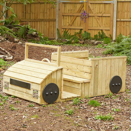 Outdoor Wooden Role Play Truck  large