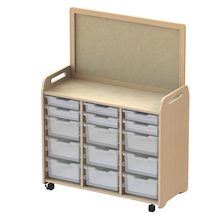 Millhouse Unit (900mm) with Display Add-on and 12 Deep Trays Clear  medium