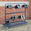 Single Sided Metal Wellie Rack L110 x W30 x H100cm  small