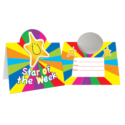 Star of the Week Desk Cards  large
