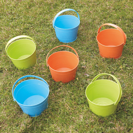 Metal Buckets 6pk  large