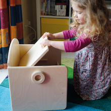 Wooden Sensory Seat with Integral Storage  medium