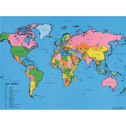 Drywipe Map of the World  large