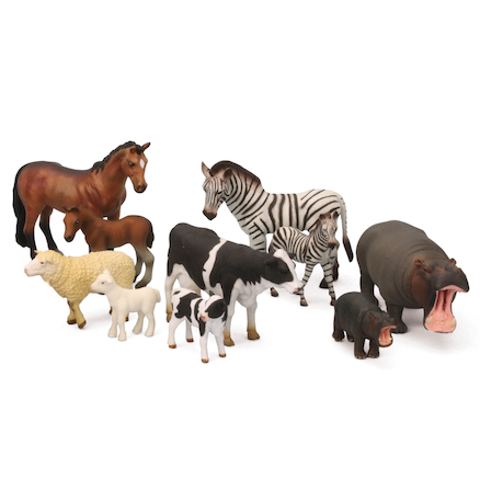 Small World Wild and Farm Animals and Young Set  large